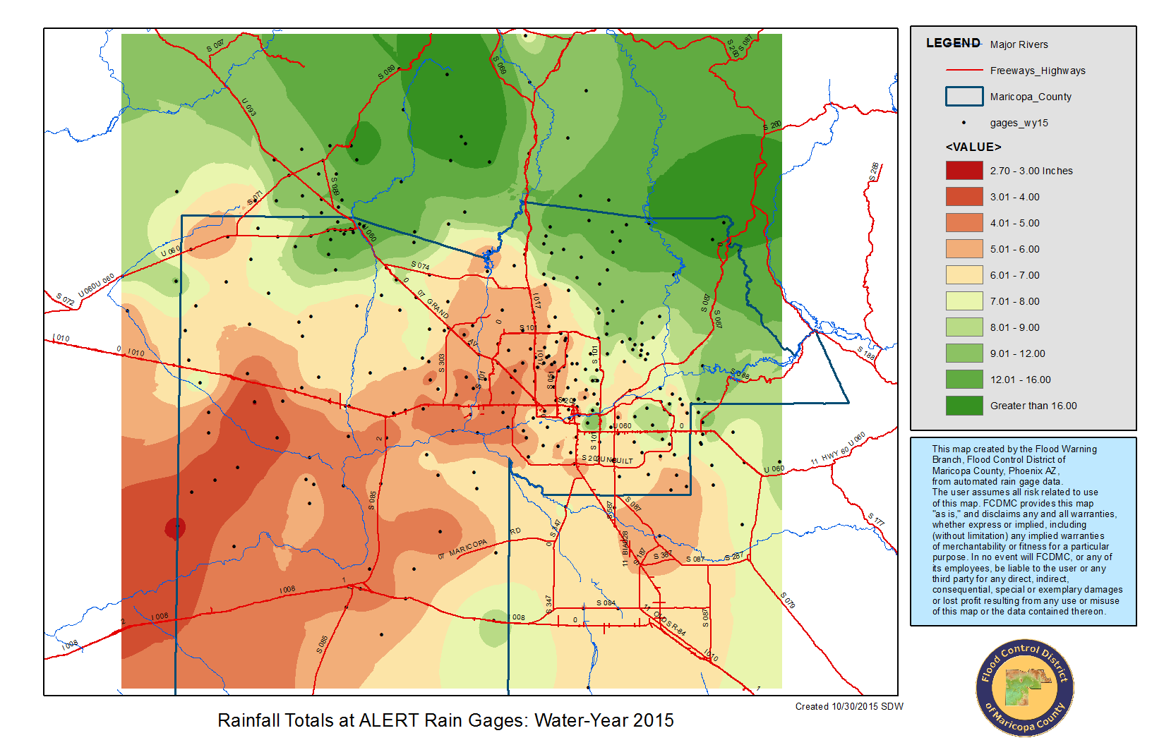 Arizona Zip Code Map 2015.Rainfall Data Maricopa County Az