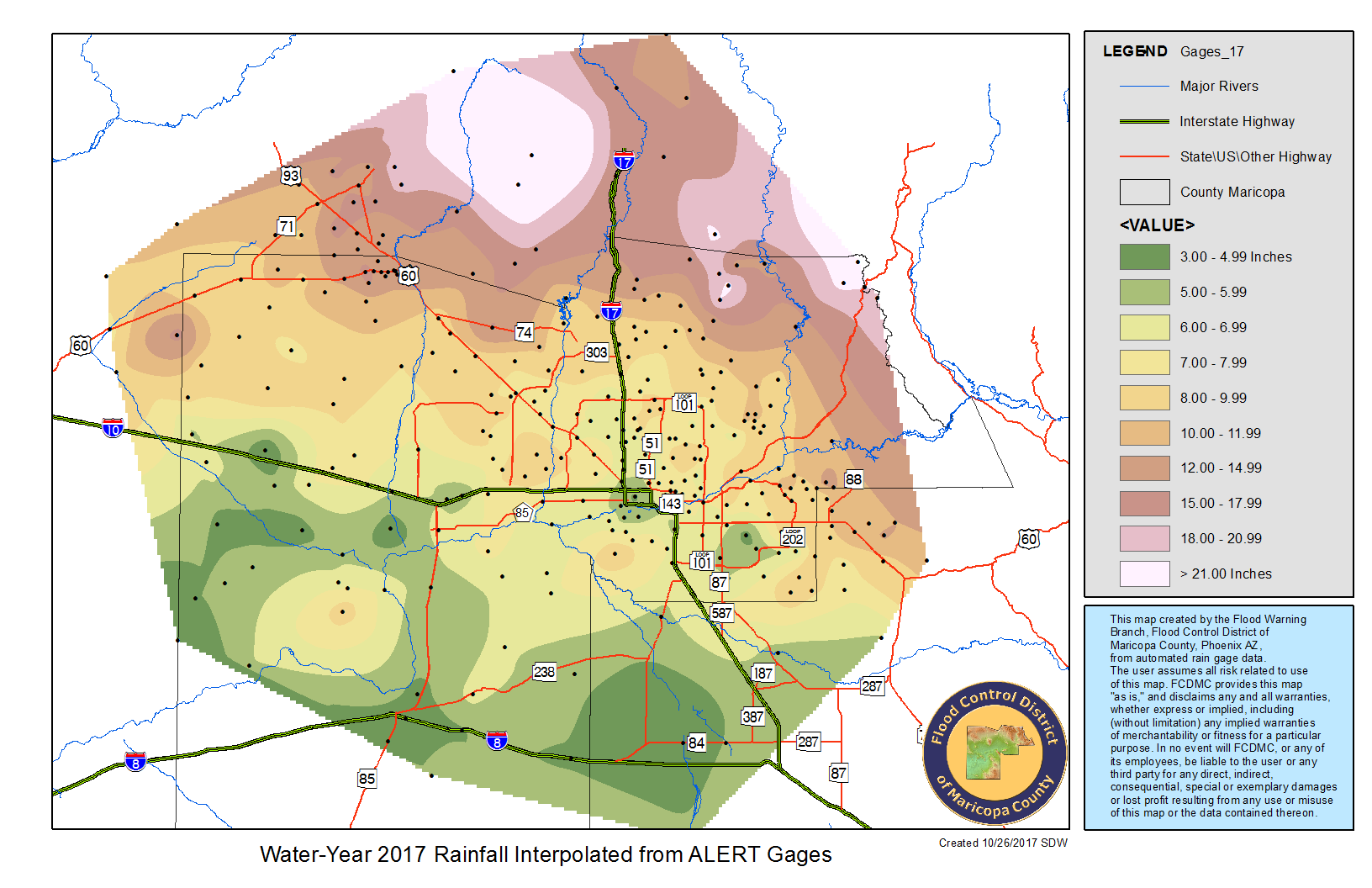 Ahwatukee Zip Code Map.Rainfall Data Maricopa County Az