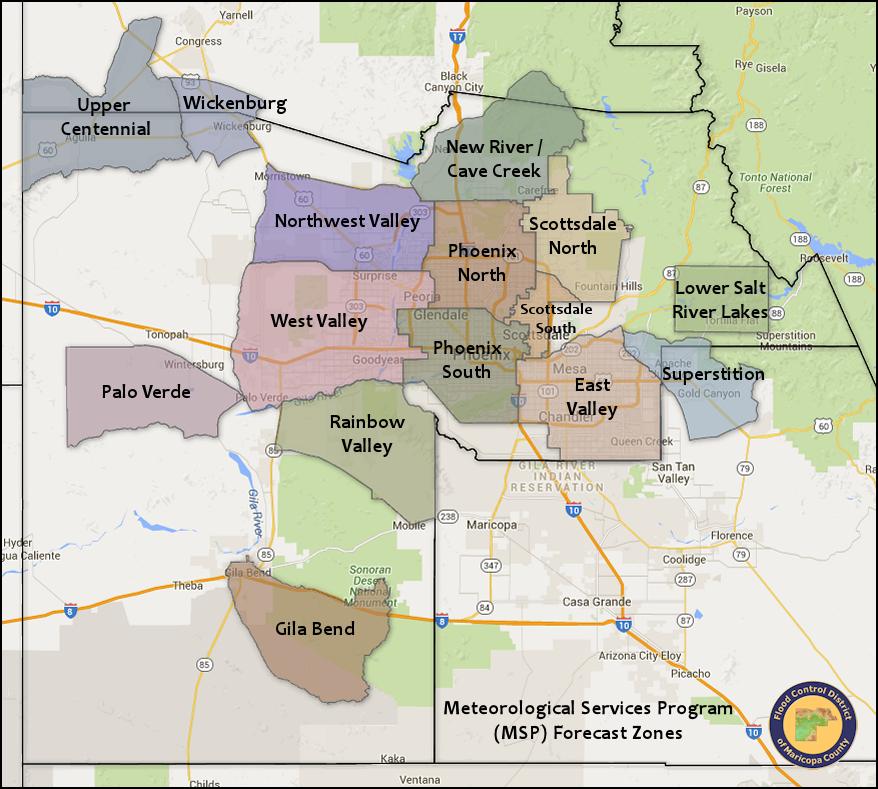 Maricopa County Map Weather Sensor Data | Maricopa County, AZ