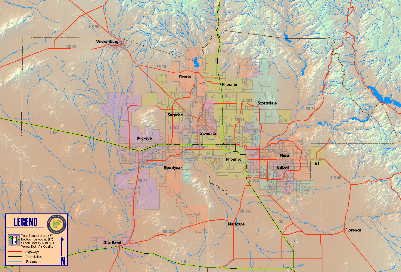 Maricopa County Temperature And Dew Point Map